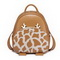 JUST STAR PU 2017 New Happy Deer Series School Backpack Brown
