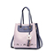 JUST STAR PU Leather 2017 New Beautiful Hollow Shoulder Bag Purple