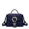 JUST STAR PU Leather 2017 New Delicate Flower Shoulder Bag Blue