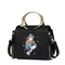JUST STAR PU Leather 2017 New Cartoon Series Handbag Black