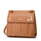 JUST STAR PU 2017 New Stylish Tassels Vintage Shoulder Bag Brown