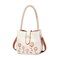 JUST STRA PU 2018 New Fresh Embroidery Bucket Bag White