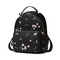 JUST STAR PU 2018 New Beautiful Flower Backpack Black