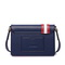 UST STAR PU 2018 New Contrast Color Messenger Bag Deep Blue