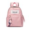 JUST STAR PU 2018 New Large Capacity Backpack Pink