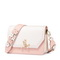 JUST STAR PU 2018 New Season Flower Shoulder Strap Bag Pink