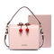 JUST STAR PU 2018 New Lovely Cute Cherry Shoulder Bag Pink