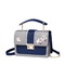 JUST STAR PU 2018 New Flower Collage Cross Body Bag Blue