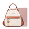 JUST STAR PU 2018 New Sweet Girls Student Backpack Apricot