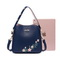 JUST STAR PU 2018 New Embroidery Bucket Bag Blue