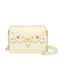 JUST STAR PU 2018 New Sweet Girls Cross Body Bag Yellow