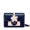 JUST STRA PU 2018 New Flower Shoulder Bag Blue