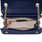 JUST STAR PU 2018 New Contrast Color Embroidery Messenger Bag Deep Blue
