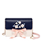 JUST STAR PU 2018 New Romantic Ribbon Girls Shoulder Bag Blue