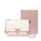 JUST STAR PU 2019 Special Heart Embroidery Shoulder Bag White