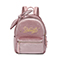 JUST STAR 2018 New Popular Velour Embroidery Backpack Pink