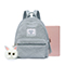 JUST STAR 2018 New Winter Cute Girl Backpack Gray
