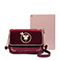 JUST STAR 2018 New Velour Vintage Style Shoulder Bag Red