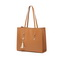 JUST STAR PU 2019 New Large Capacity Tote Bag Brown