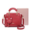 JUST STAR PU 2018 New Fashion Bear Handbag Red