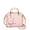 JUST STAR PU 2019 New Fashion Bear Handbag Pink