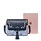 JUST STAR PU 2018 New Vintage Embroidery Shoulder Bag Blue