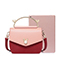 JUST STAR 2018 New Fashion Contrast Color Handbag Red