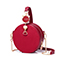 JUST STAR 2018 New Winter Vintage Round Bag Red