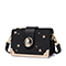 JUST STAR 2019 New Fashion Embroidery Messenger Bag Black