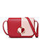 JUST STAR PU 2019 New Year Contrast Color Messenger Bag Red