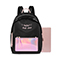 JUST STAR PU 2019 New Fashion Colorful Backpack Black