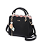 JUST STAR PU 2019 New Flower Women Handbag Black
