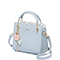 JUST STAR PU 2019 New Flower Women Handbag Sky Blue