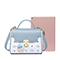JUST STAR PU 2019 New Cute Printing Kelly Bag Blue