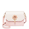 JUST STAR 2019 New Spring Flower Shoulder Bag Pink
