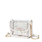 JUST STAR 2019 New Summer Jelly Shoulder Bag White