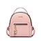 JUST STAR PU 2019 New Casual Girl Backpack Pink