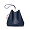 JUST STAR PU 2019 New Soft Bucket Bag Blue