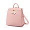 JUST STAR PU 2019 New Large Capacity Backpack Pink