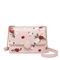 JUST STAR 2019 New Fashion Vintage Flower Printing Shoulder Bag Pink