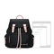 JUST STAR PU 2019 New Casual Traveling Big Size Backpack Black