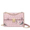 JUST STAR 2019 New Flower Printing Shoulder Bag Pink