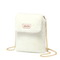 JUST STAR 2019 New Winter Fluffy Phone Bag White