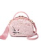 JUST STAR 2019 New Chinese Style Embroidery Shoulder Bag Pink