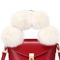 JUST STAR 2019 New Fashion Hairy Balls Bucket Bag Red