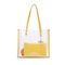 JUST STAR 2020 New Spring Large Jelly Tote Bag Yellow