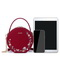 JUST STAR 2020 New Fashion Vintage Floral Embroidery Women Shoulder Bag Chinese Red