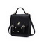 JUST STAR 2020 New Fashion Vintage Design Velour Women Backpack Black