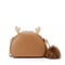 JUST STAR 2020 Winter Fashion Woolen Cute Sweet Girl Shoulder Bag Brown