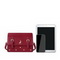 JUST STAR 2020 Autumn New Fashion Embroidery Women Big Shoulder Bag Red